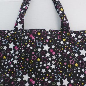 Handbag with zipper and colorful stars BNWOT